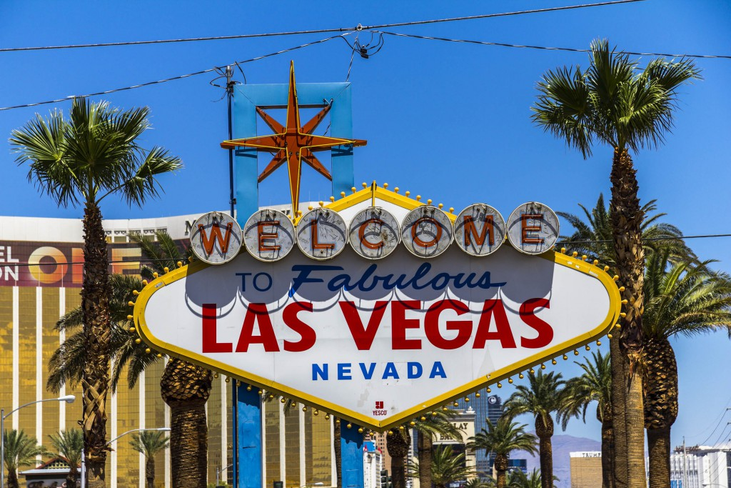 Las Vegas Schild Welcome Sign - Westküste USA Rundreise
