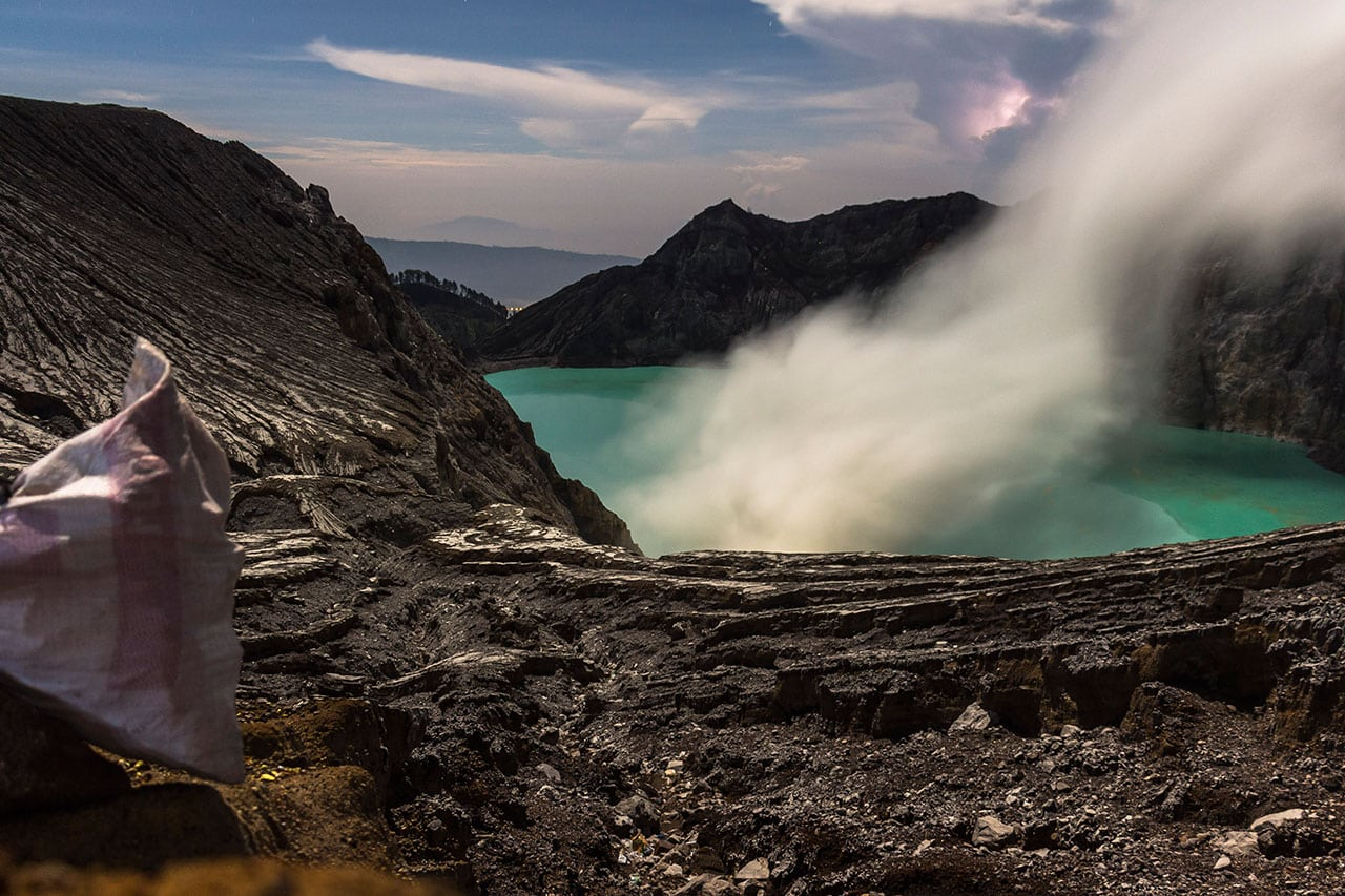Ijen Vulkan Blue Fire
