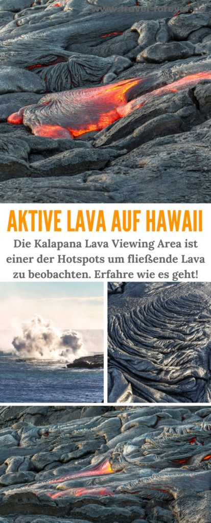 The Island Hawaii Lava Flow Viewing Area
